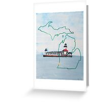 Michigan Pride Lighthouse Greeting Card