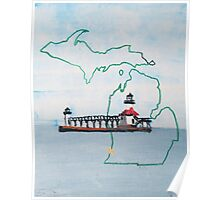 Michigan Pride Lighthouse Poster
