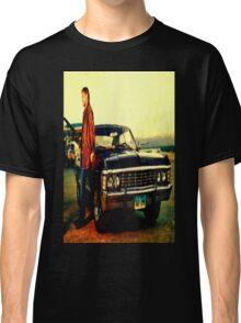 supernatural tv dean baby impala fan art Classic T-Shirt