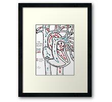 Bloodflow Chart Framed Print