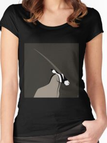 Órice / Oryx Women's Fitted Scoop T-Shirt