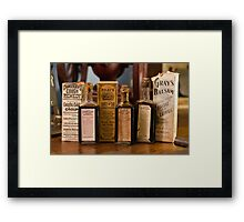 medical bottles Framed Print