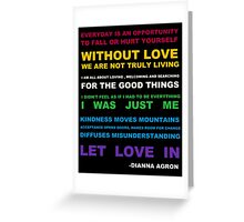 Dianna Quotes Greeting Card