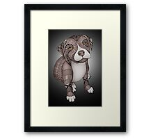 Pitbull Puppy Framed Print