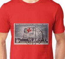 """1963 Red Cross Stamp"" Unisex T-Shirt"
