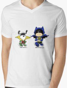 Superheroes Peanuts Mens V-Neck T-Shirt