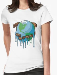 Global Warming Womens Fitted T-Shirt