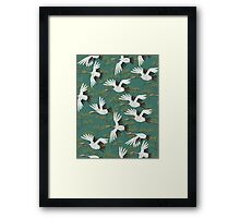 Japanese Crane Pattern Framed Print