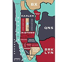 New York City Map Photographic Print
