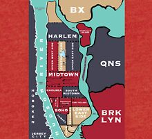 New York City Map Tri-blend T-Shirt