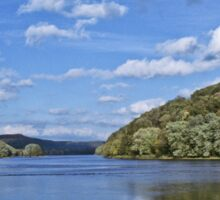 The Peaceful Allegheny River Sticker