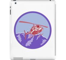 Helicopter Alps Mountains Circle Retro iPad Case/Skin