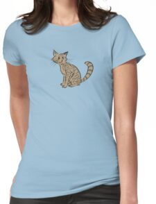 Cat Womens Fitted T-Shirt
