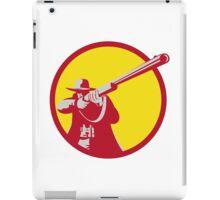 Hunter Aiming Shotgun Rifle Circle Retro iPad Case/Skin