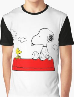 Snoopy & Woodstock Graphic T-Shirt