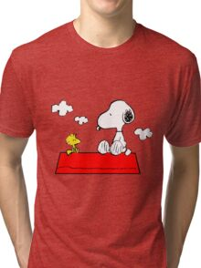 Snoopy & Woodstock Tri-blend T-Shirt