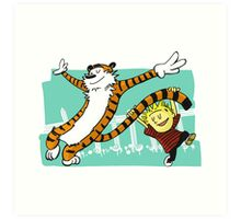 Calvin and Hobbes Dancing Art Print