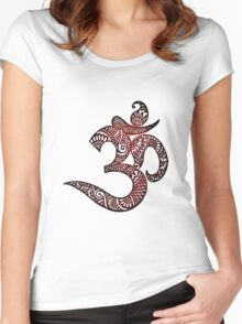 Chinese Symbol Drawing Women's Fitted Scoop T-Shirt