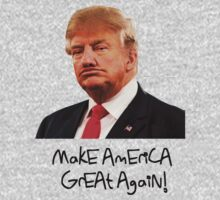 Donald Trump Derp Meme ''Make America Great Again!'' Kids Tee