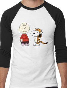 Peanuts Meets Men's Baseball ¾ T-Shirt