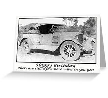 Vintage 1930 car,Happy Birthday, Humour, Black and white Photo Greeting Card