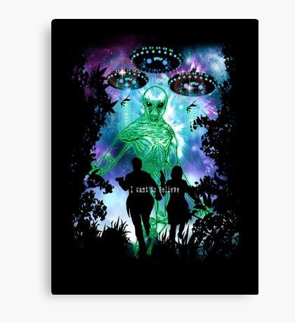 The X-Files Alien Invasion Canvas Print