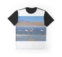 Pink Flamingos At Lagoon Graphic T-Shirt