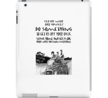 Teenager advice,lads in car behaving badly iPad Case/Skin