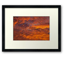 Orange before the grey Framed Print