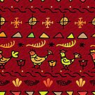 - Traditional pattern with birds - by Losenko  Mila