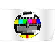 90's TV Test pattern Poster