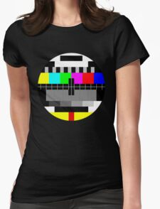 90's TV Test pattern Womens Fitted T-Shirt