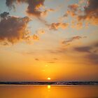 Golden sunset beach on Moreton Island  by Keiran Lusk