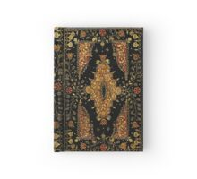 Black and Gold Floral Book Hardcover Journal