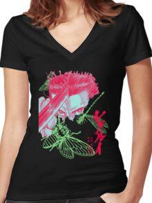 Neon Shigurui Women's Fitted V-Neck T-Shirt