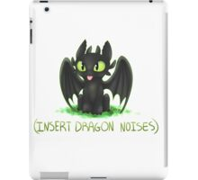 (Insert Dragon Noises) iPad Case/Skin