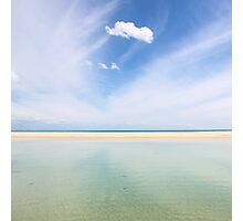 Cloud watching on Moreton Island Photographic Print