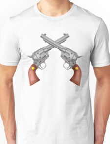 Crossed Pistols Unisex T-Shirt
