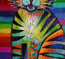 Rainbow kitty  by Karin Zeller