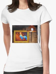 chicken Womens Fitted T-Shirt