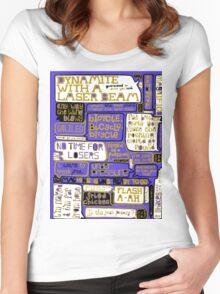 Queen Lyrics Typography Women's Fitted Scoop T-Shirt