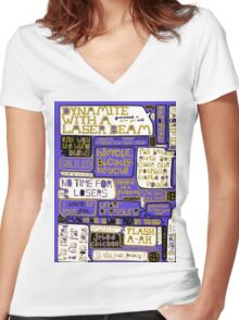Queen Lyrics Typography Women's Fitted V-Neck T-Shirt