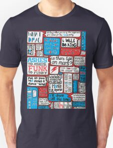 David Bowie Lyrics Typography Unisex T-Shirt