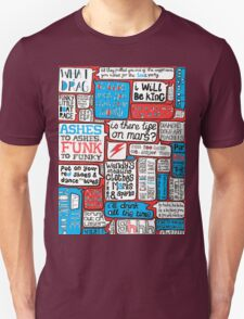 David Bowie Lyrics Typography T-Shirt