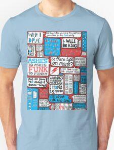 David Bowie Lyrics Typography T-Shirt