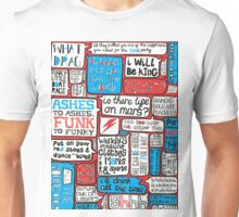 David Bowie Lyrics Typography Unisex T-Shirt