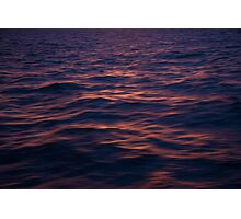 Sunset Water Reflection Photographic Print