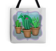 "Dragon ""Hiding"" with Cacti Tote Bag"