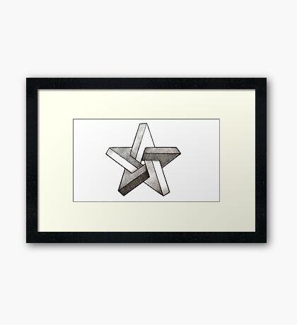Cool Star Framed Print