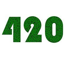 420 Weed Leaf Pattern Photographic Print